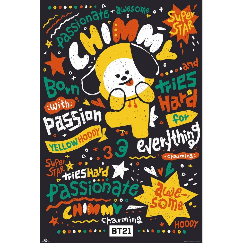 RockEntertainment公式グッズ 正規ライセンスアイテム BTS ビーティーエス 爆売り - オフィシャル Chimmy BT21 ポスター 公式 人気ブランド多数対象