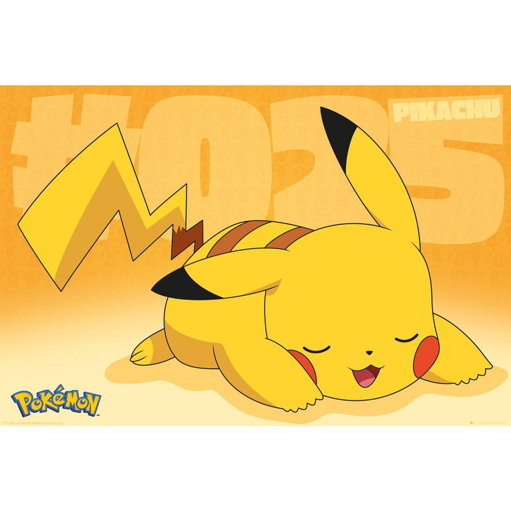 返品不可 RockEntertainment公式グッズ 正規ライセンスアイテム 人気商品 POKEMON ポケットモンスター ポケモン25周年 - Pikachu ポスター 公式 Asleep オフィシャル