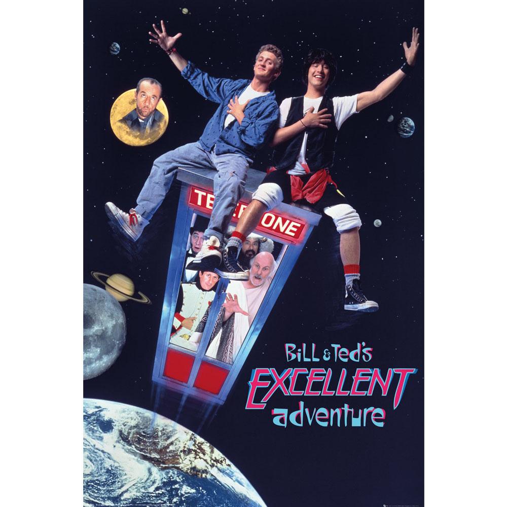 RockEntertainment公式グッズ 正規ライセンスアイテム BILL TED ビルとテッド - 公式 高価値 在庫一掃売り切りセール Excellent オフィシャル Adventure ポスター