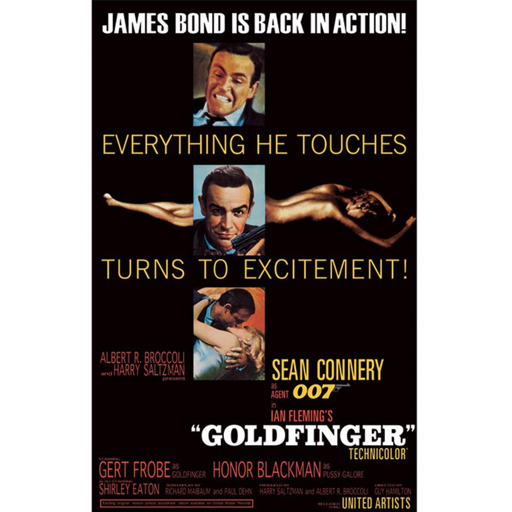 RockEntertainment公式グッズ 信託 正規ライセンスアイテム JAMES 在庫一掃売り切りセール BOND ジェームズボンド オフィシャル ポスター Goldfinger - 公式