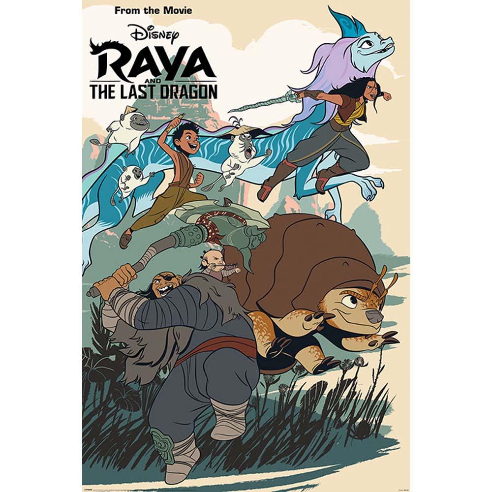 RockEntertainment公式グッズ 正規ライセンスアイテム ついに入荷 RAYA AND THE LAST 迅速な対応で商品をお届け致します DRAGON ラーヤと龍の王国 Action ポスター Into - オフィシャル Jumping 公式