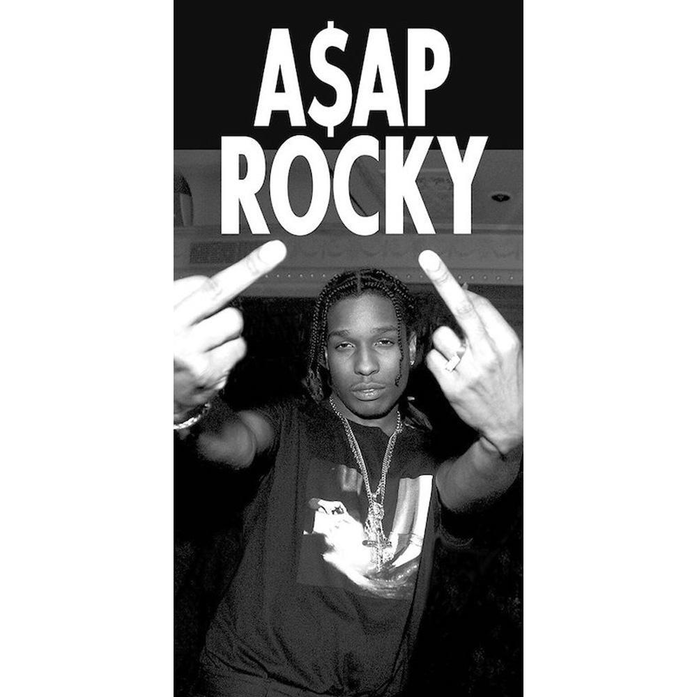 RockEntertainment公式グッズ 正規ライセンスアイテム ASAP ROCKY エイサップ ロッキー - オフィシャル Fingers 安心の定価販売 蔵 Middle 公式 ポスター