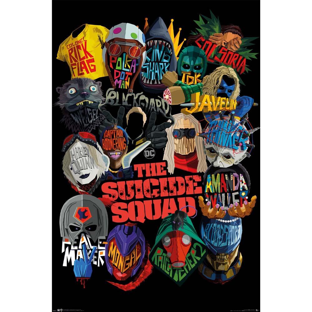 RockEntertainment公式グッズ 期間限定特別価格 正規ライセンスアイテム SUICIDE SQUAD スーサイドスクワッド 映画公開記念 格安 オフィシャル 公式 Icons - ポスター