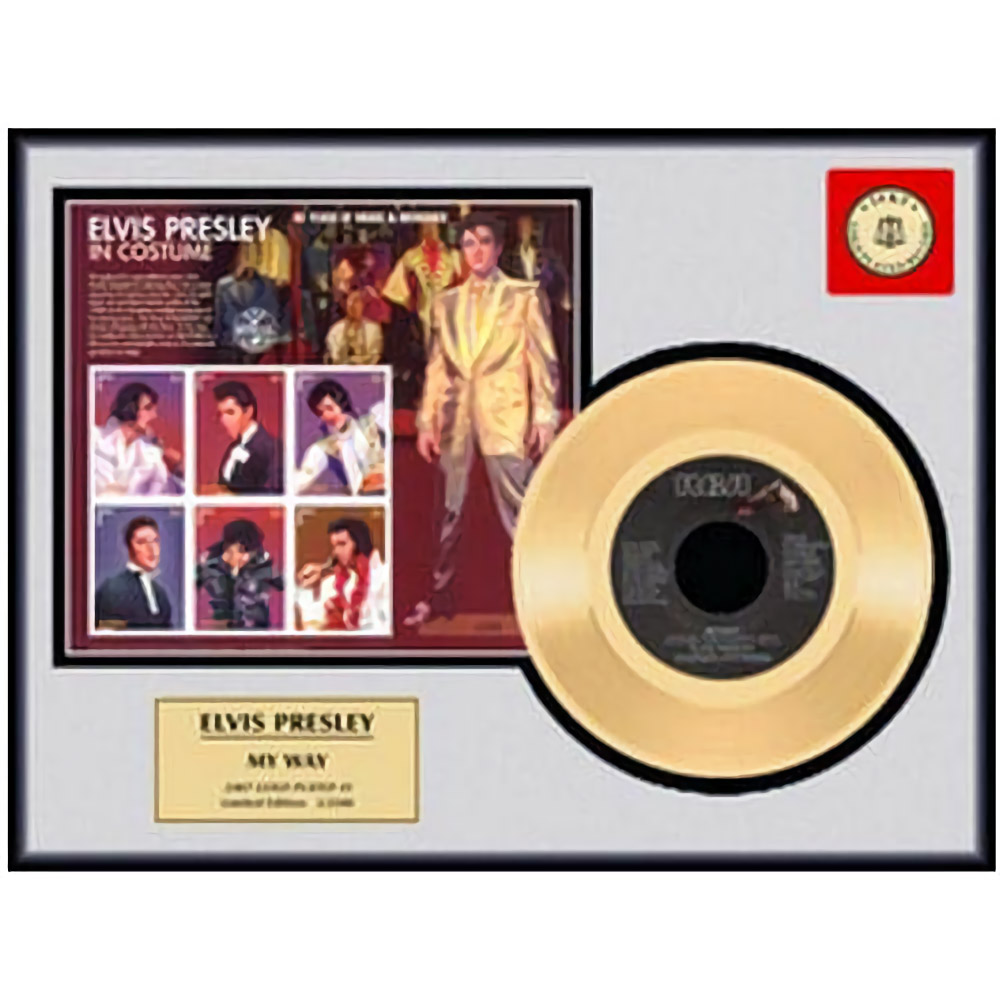 ELVIS PRESLEY エルヴィスプレスリー - MY WAY / GOLD DISC / インテリア額 【公式 / オフィシャル】