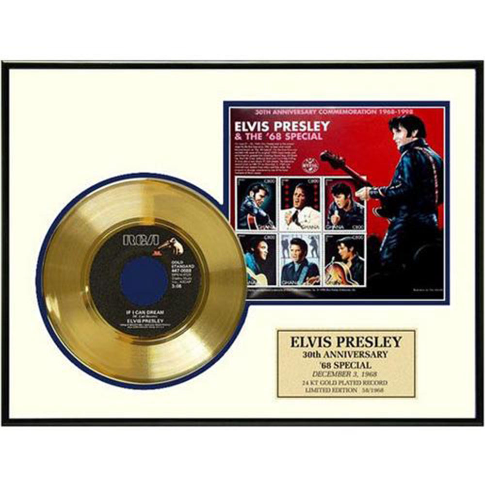 ELVIS PRESLEY エルヴィスプレスリー If I Can Dream / GOLD DISC / インテリア額 【公式 / オフィシャル】