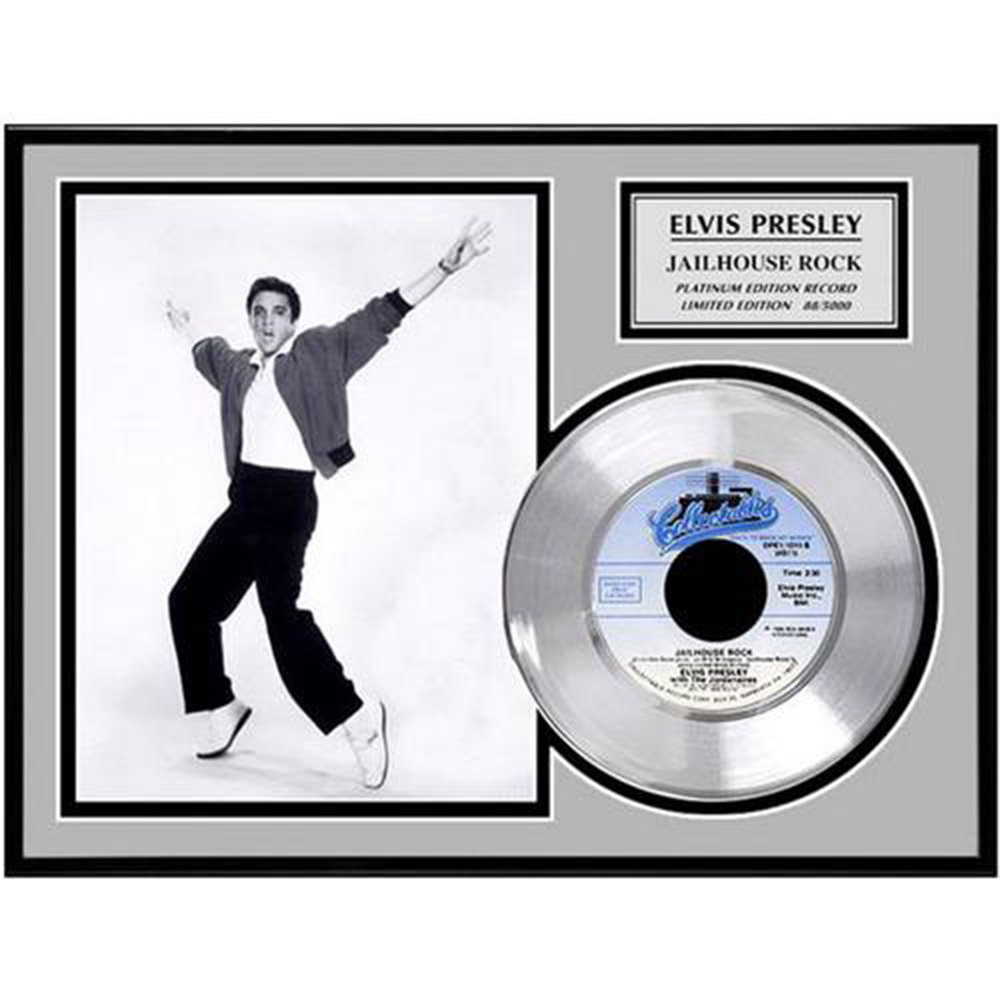 ELVIS PRESLEY エルヴィスプレスリー - Jailhouse Rock / GOLD DISC / インテリア額 【公式 / オフィシャル】