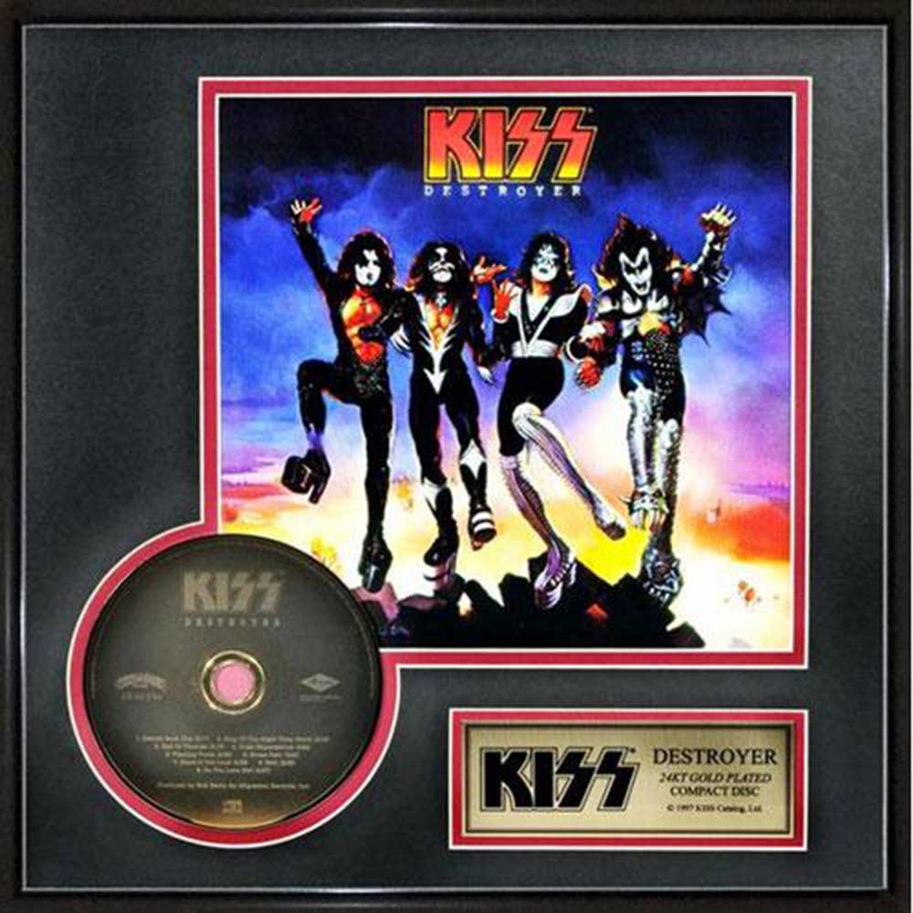 KISS キッス (フェアウェル・ツアー ) - Destroyer / GOLD DISC / インテリア額 【公式 / オフィシャル】