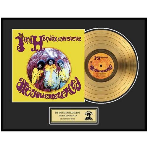 JIMI HENDRIX ジミヘンドリックス (WOODSTOCK 50周年記念 ) - Are You Experienced / GOLD DISC / インテリア額 【公式 / オフィシャル】
