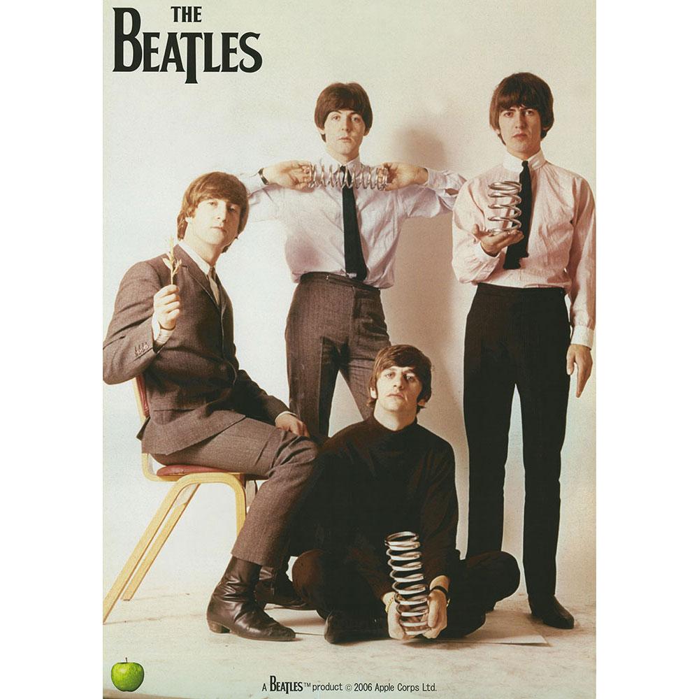 送料0円 RockEntertainment公式グッズ 正規ライセンスアイテム BEATLES ビートルズ 来日55周年記念 - WITH ポスター 爆売り SPRING 絶版 公式 オフィシャル THE