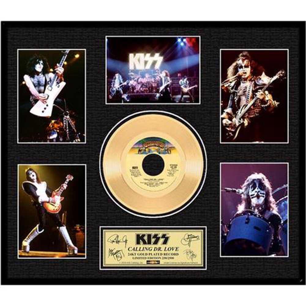 結成45周年記念 KISS キッス - Calling Dr Love Gold / GOLD DISC / インテリア額 【公式 / オフィシャル】