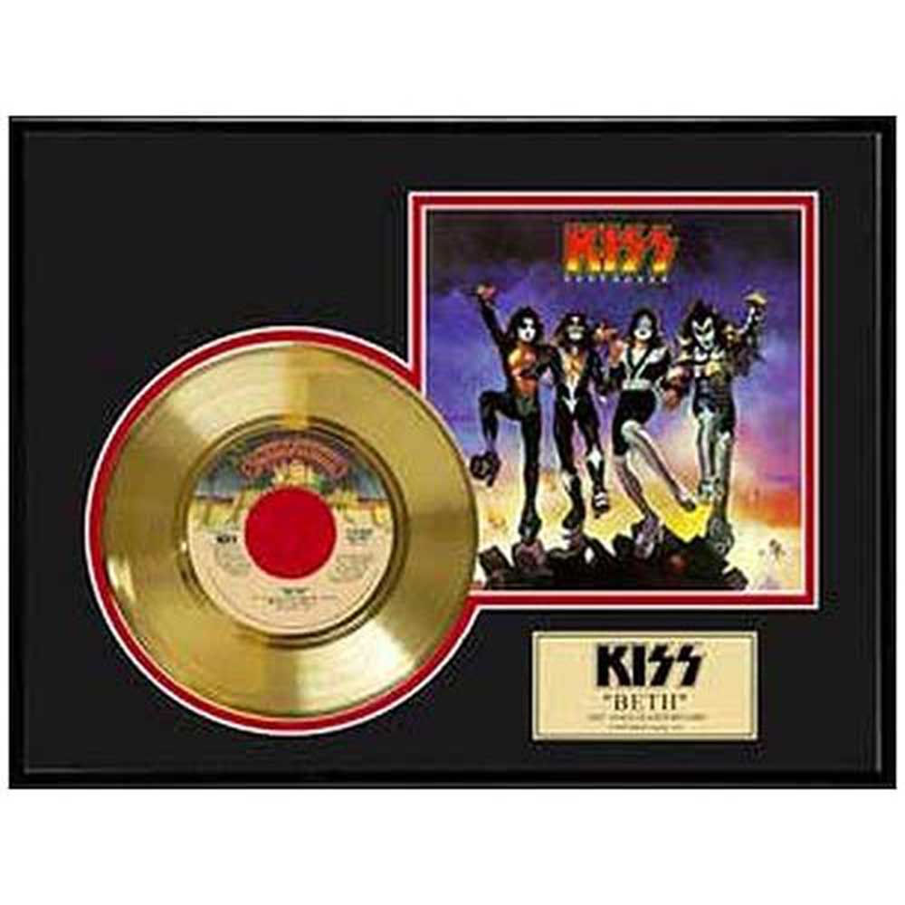 KISS キッス (End of the Road Tour ) - BETH / GOLD DISC / インテリア額 【公式 / オフィシャル】
