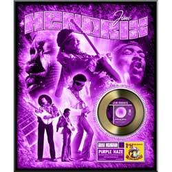 JIMI HENDRIX ジミヘンドリックス (WOODSTOCK 50周年記念 ) - 'Purple Haze' framed gold record / インテリア額 【公式 / オフィシャル】