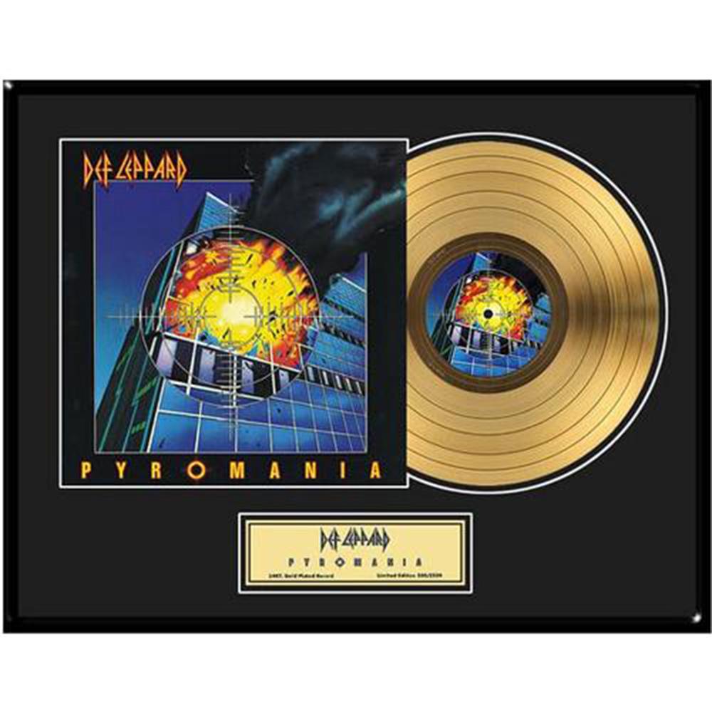 来日記念 DEF LEPPARD デフレパード - Pyromania / GOLD DISC / インテリア額 【公式 / オフィシャル】