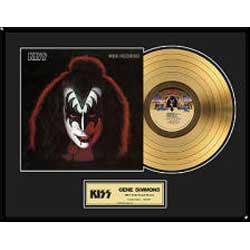 KISS キッス (End of the Road Tour ) - Gene Simmons / GOLD DISC / インテリア額 【公式 / オフィシャル】