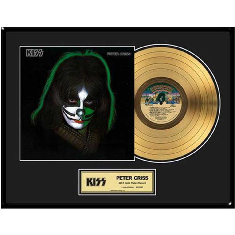 KISS キッス (End of the Road Tour ) - Peter Criss / GOLD DISC / インテリア額 【公式 / オフィシャル】
