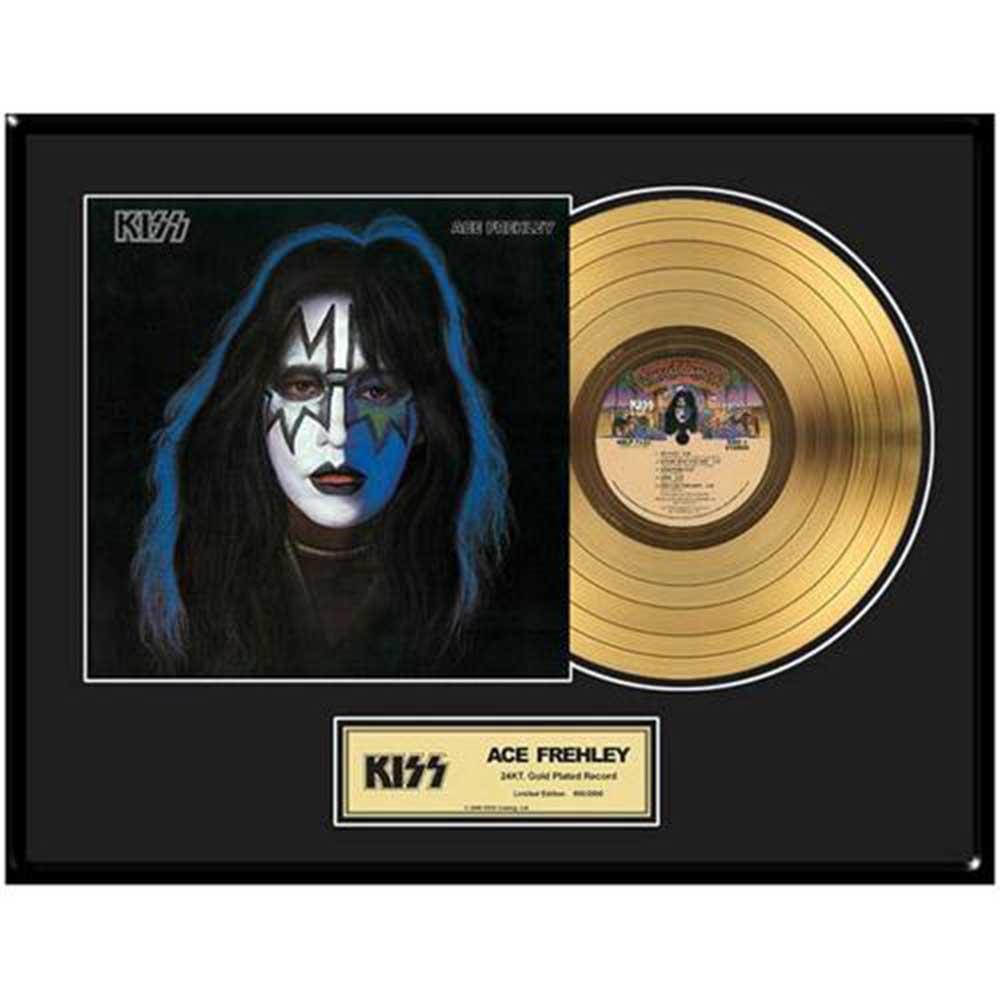結成45周年記念 KISS キッス - Ace Frehley / GOLD DISC / インテリア額 【公式 / オフィシャル】