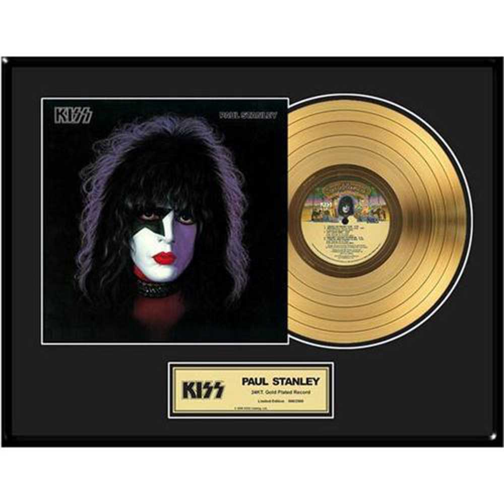 KISS キッス (フェアウェル・ツアー ) - Paul Stanley / GOLD DISC / インテリア額 【公式 / オフィシャル】