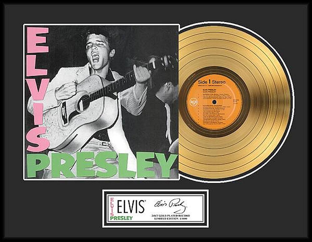 ELVIS PRESLEY エルヴィスプレスリー - ELVIS PRESLEY / GOLD DISC / インテリア額 【公式 / オフィシャル】
