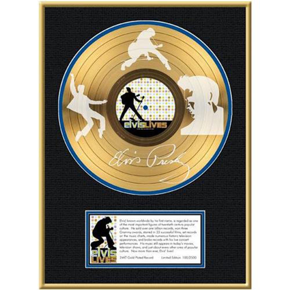 ELVIS PRESLEY エルヴィスプレスリー Elvis Lives / GOLD DISC / インテリア額 【公式 / オフィシャル】