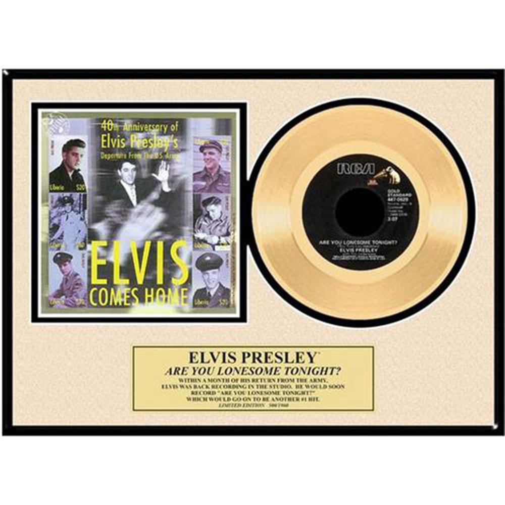 ELVIS PRESLEY エルヴィスプレスリー ARE YOU LONESOME TONIGHT / GOLD DISC / インテリア額 【公式 / オフィシャル】