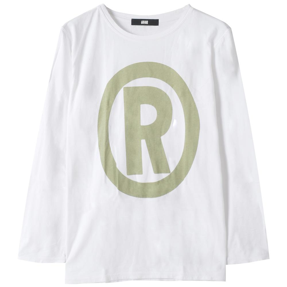 60HMR(ブランド) ロクマル (わかるヤツにはわかるロックT ) - L / S Registermark / 長袖 / Tシャツ / メンズ 【公式 / オフィシャル】