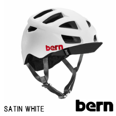 【Lサイズ】【送料無料】bern ヘルメット ALLSTON SATIN WHITE スタイリッシュでおしゃれ、自転車(ロードバイク、クロスバイク、マウンテンバイク、BMX)