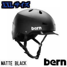 【XXLサイズ】【送料無料】bern ヘルメットMACON VISOR MATTE BLACK メーコン ツバ付きで人気のクラシックモデル おしゃれ、自転車、スケートボードに。