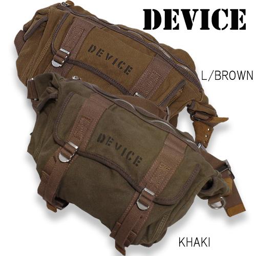 DEVICE カーゴショルダーバッグ【デバイス cargo shoulder bag】メンズ ミリタリー カジュアル アウトドア ボディバッグ ウエストバッグ ショルダーバッグ