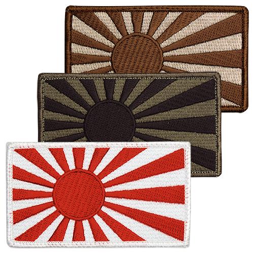 旭日旗子補丁人軍事日本國旗徽章鈴黑