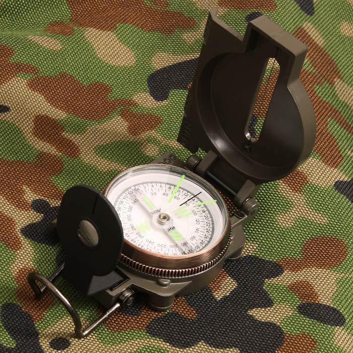 YCM レンザティックコンパス 9000L【Lensatic Compass】ミリタリー アウトドア 軍用ミル目盛 度数目盛 陸上自衛隊採用