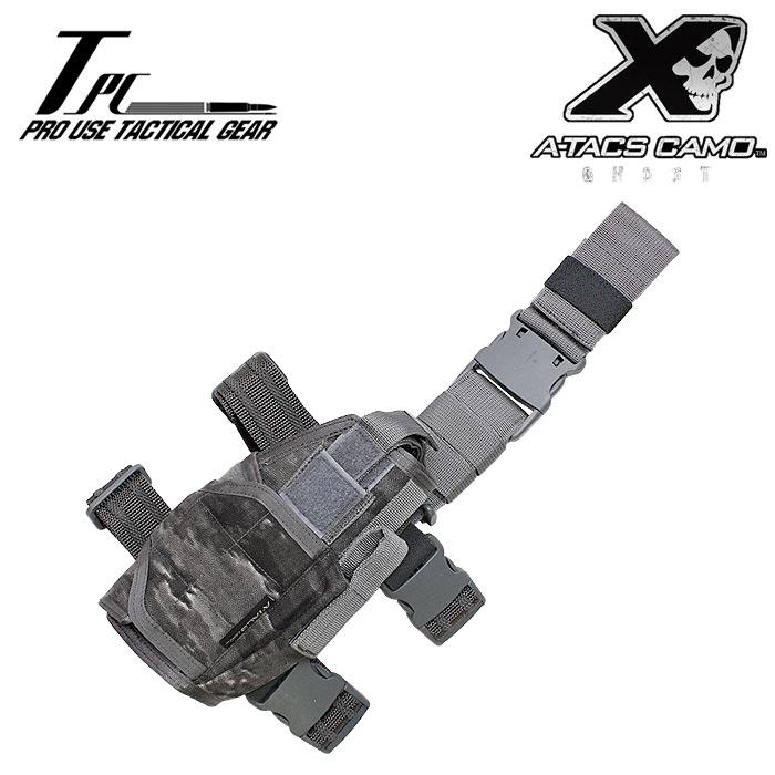 TP ユニバーサル レッグ ホルスター/A-TACS GHOST【タクティカルパフォーマンス tactical performance universal leg holster エータックス ゴースト】DCS サバイバルゲーム サバゲ