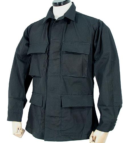 US ブラック RIP-STOP BDU ジャケット