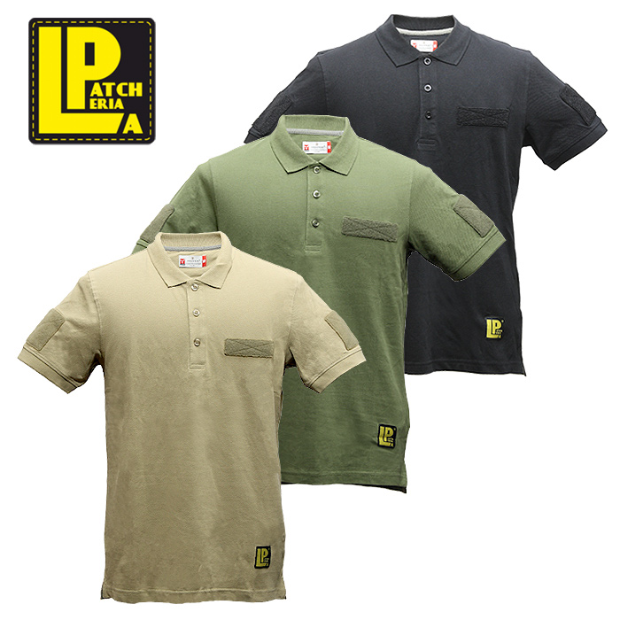 LA PATCHERIA タクティカル ポロシャツ【ラ・パッチェリア Tactical Polo Shirts】メンズ ミリタリー カジュアル パッチパネル イタリア