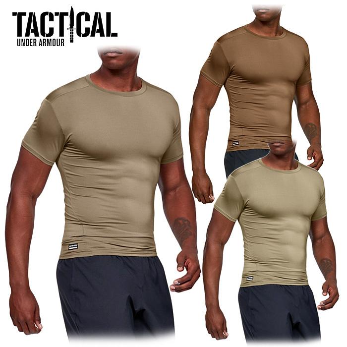 日本未発売のUAタクティカルの半袖Tシャツ UA TACTICAL Tactical Heatgear Compression S/S Tシャツ 【Under Armour Tactical アンダーアーマータクティカル】日本未発売 特殊部隊 軍用 吸汗速乾 ヒートギア OUTLET