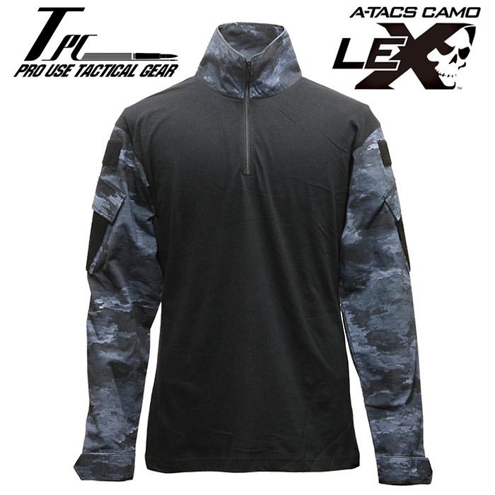 TP タクティカル コンバットシャツ / A-TACS LE-X【tactical performance タクティカル・パフォーマンス DCS エータックス エルイーエックス】メンズ ミリタリー サバイバルゲーム サバゲ コンシャツ