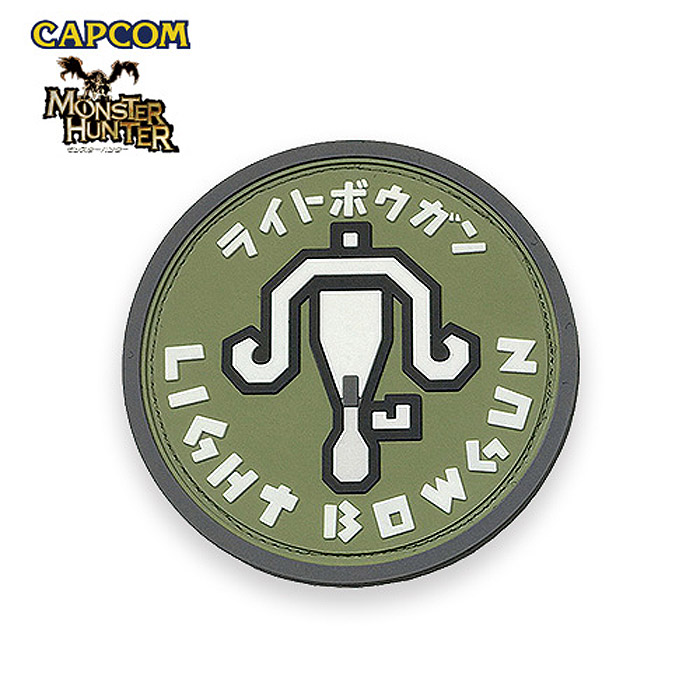 Monster Hunter PVC PATCH / LIGHT BOWGUN monster hunter light crossbow patch  CAPCOM capcom men military casual outdoor game patch panel emblem is