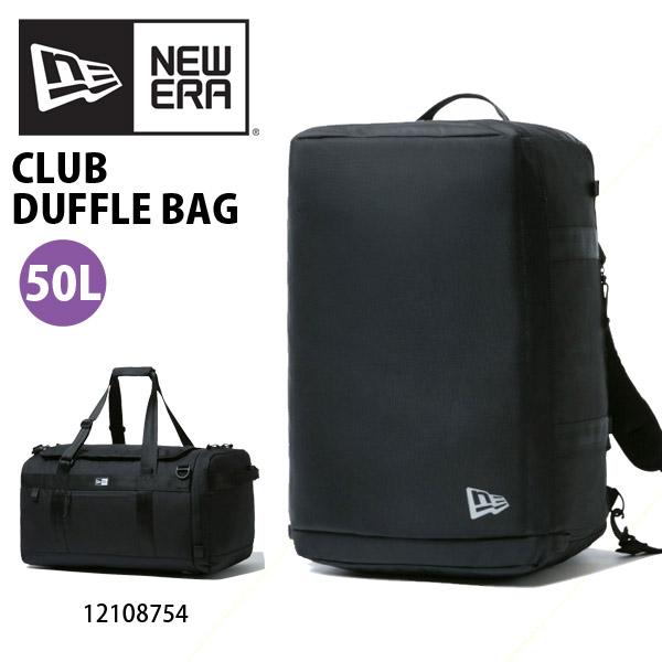 送料無料 ダッフルバッグ NEW ERA ニューエラ クラブ ダッフルバッグ Club Duffle Bag メンズ 50L 2WAY バックパック リュックサック トラベル 旅行 合宿 12108754 2020春夏新作