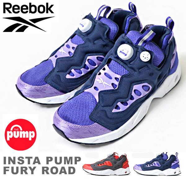 Reebok Mens Classic INSTAPUMP FURY ROAD Shoe V69400 Team Purple New ALL SIZES