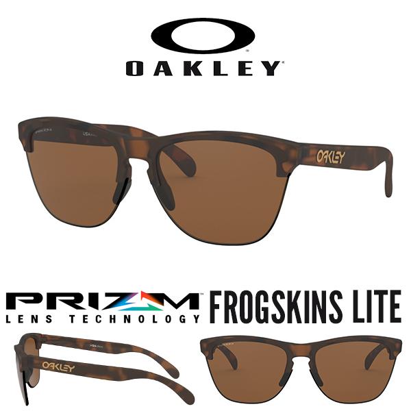 送料無料 サングラス OAKLEY オークリー FROGSKINS LITE フロッグスキン ライト Prizm Tungsten プリズム レンズ 日本正規品 スタンダードフィット 眼鏡 アイウェア oo9374 1163
