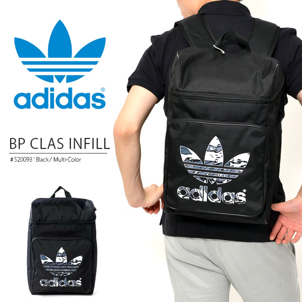 背包阿迪达斯原始物adidas ORIGINALS BP CLAS INFILL人分歧D箱型帆布背包日包休闲通勤上学