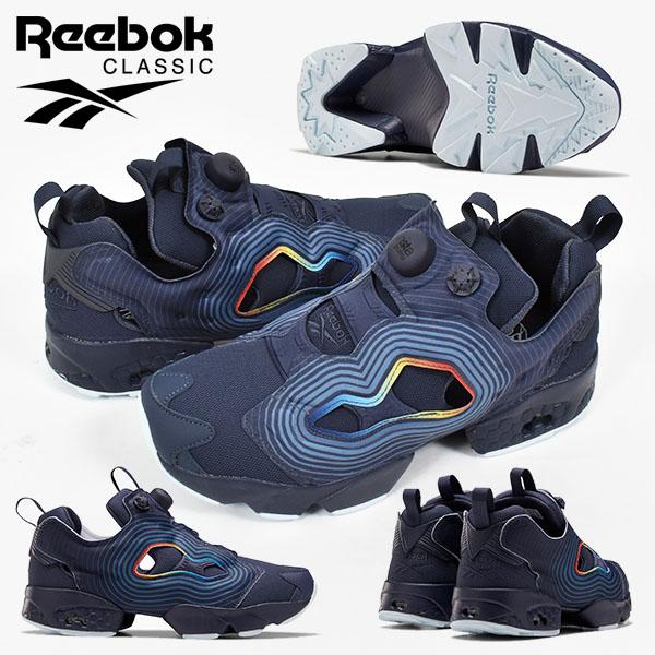 送料無料 スニーカー リーボック クラシック Reebok メンズ レディース INSTAPUMP FURY OG NM インスタポンプ フューリー ポンプフューリー ハイテクスニーカー シューズ 靴 ネイビー 紺 2020夏新作 FV4503