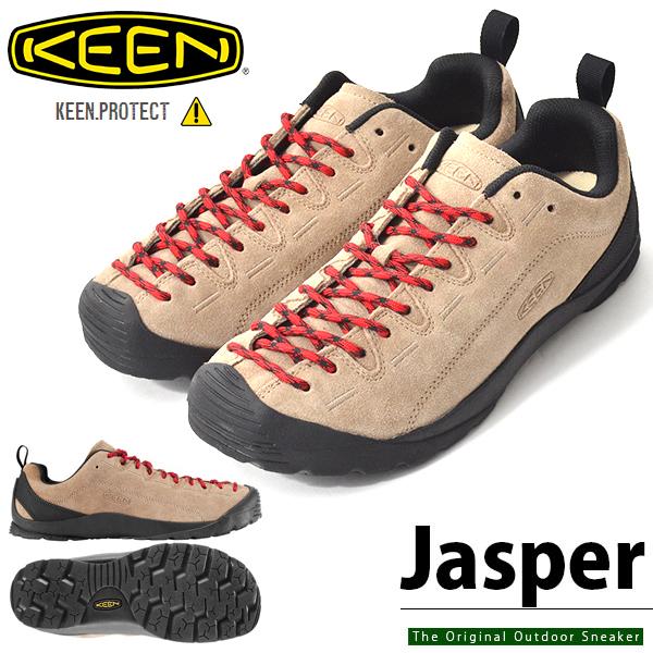 送料無料 アウトドア シューズ KEEN キーン メンズ JASPER ジャスパー 1002672 替え紐つき SILVER MINK クライミング ハイキング スニーカー 靴 ハイブリッド アウトドアスニーカー