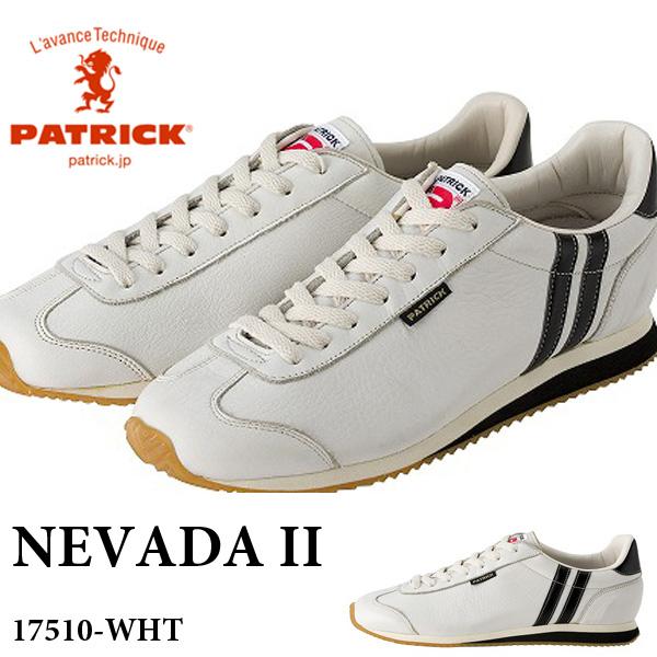 送料無料 スニーカー パトリック PATRICK メンズ レディース ネバダ 2 NEVADA II レザー シューズ 靴 牛革 本革 天然皮革 ホワイト 白 日本製 ローカットシューズ