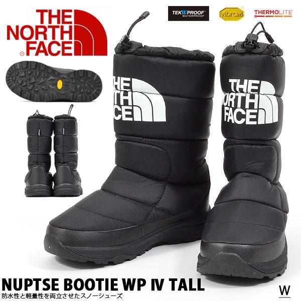 送料無料 ビッグロゴ ブーツ ザ・ノースフェイス THE NORTH FACE メンズ レディース Nuptse Bootie WP IV Tall ヌプシ ブーティー ウォータープルーフ 4 トール ロングブーツ ウインターブーツ スノーブーツ スノトレ 防水 シューズ 靴 nf51872