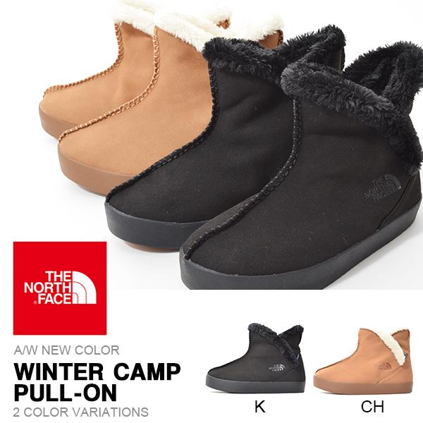現品限り 送料無料 スエード ブーツ THE NORTH FACE ザ・ノースフェイス Winter Camp Pull-On ウィンターキャンプ プルオン ショート レディース 撥水 履き口フリース