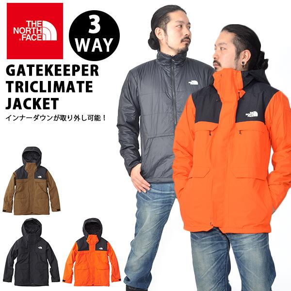 送料無料 3WAY 中綿 ジャケット THE NORTH FACE ザ・ノースフェイス メンズ GATEKEEPER TRICLIMATE JACKET ゲートキーパー トリクライメイト ジャケット スノー スキー ウエア スノーボード バックカントリー ns61808