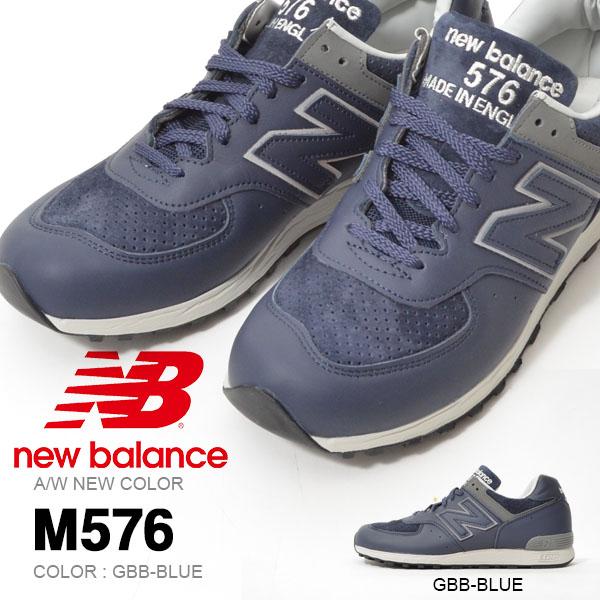 送料無料 スニーカー ニューバランス new balance M576 メンズ カジュアル シューズ 靴 UK ネイビー 紺 レザー ピッグスキンスエード