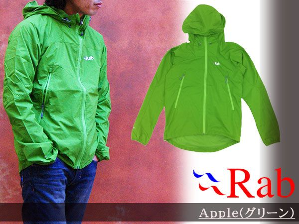 Last 1! Rab Rab ALPINE JACKET Alpine jacket men wind shell nylon jacket outdoor trekking clothing QVR-38