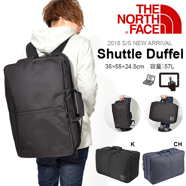 2WAY這個nosufeisushatorudaffuru THE NORTH FACE商務包SHUTTLE DUFFEL 57L帆布背包挎包NM81600背包通勤