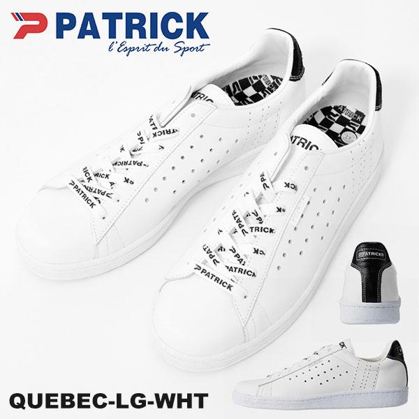 送料無料 スニーカー パトリック PATRICK メンズ QUEBEC-LG WHT ケベック ロゴ ホワイト 白 531060 日本製 天然皮革 レザー 本革 シューズ 靴 ローカットスニーカー 2019春夏新作